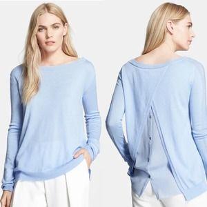 Halston Heritage Draped Button Back Sweater